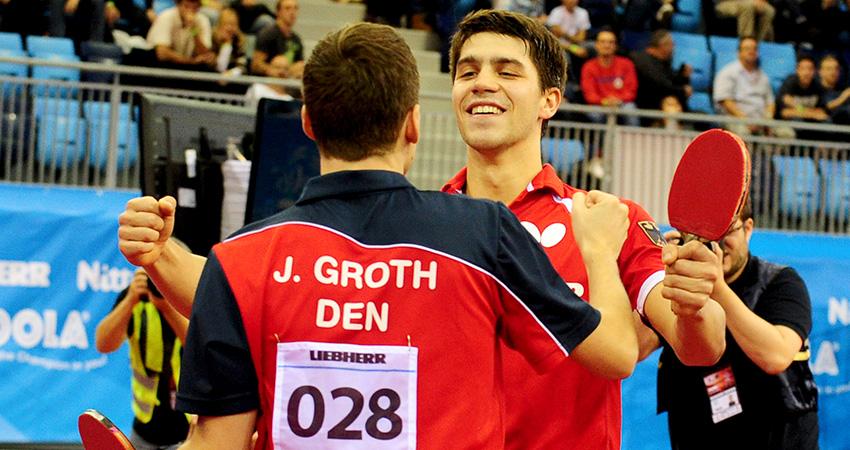 Jubel nach EM-Gold im Doppel 2016, Foto: Manfred Schilling