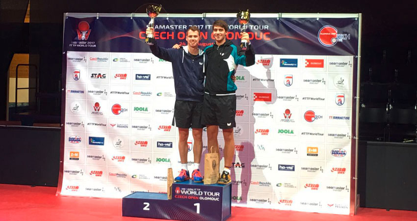 Goldmedaille im Doppel mit Jonathan Groth - Seamaster 2017 ITTF World Tour, Czech Open