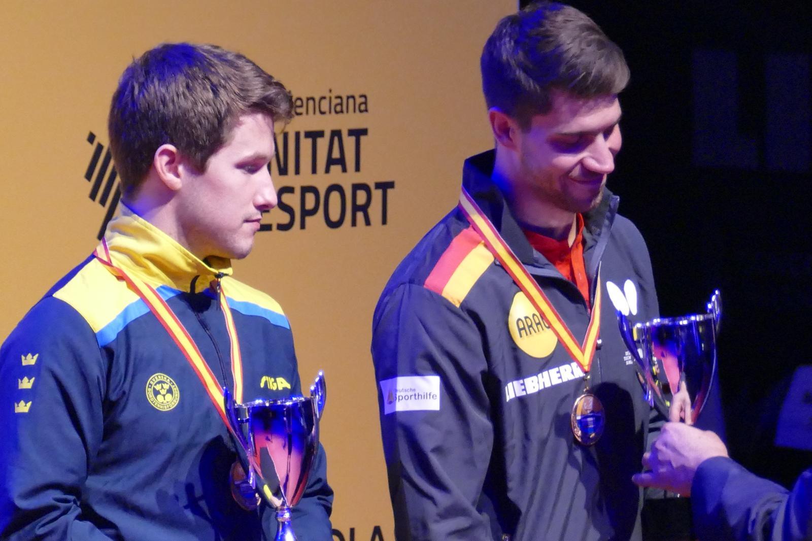 Siegerehrung Herren Doppel , Bronzemedaille, EM 2018
