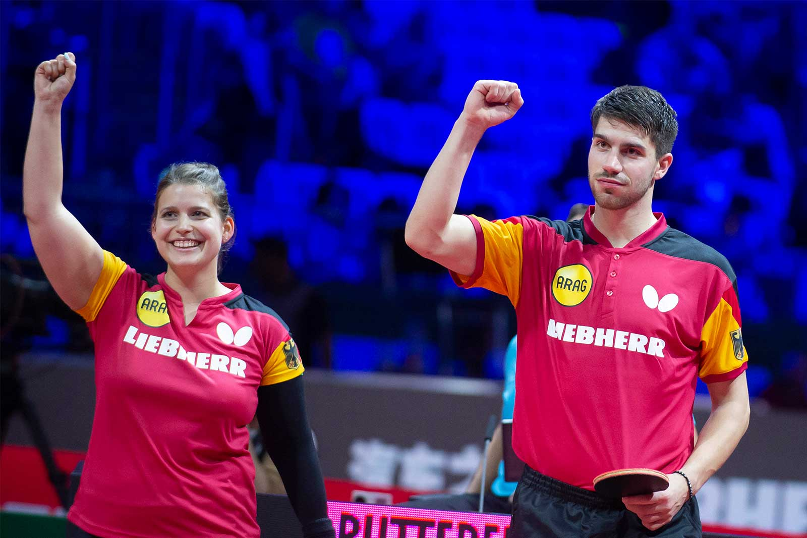 Geschafft - Sieg Viertelfinale Mixed WM 2019 Budapest (Foto: Manfred Schillings)