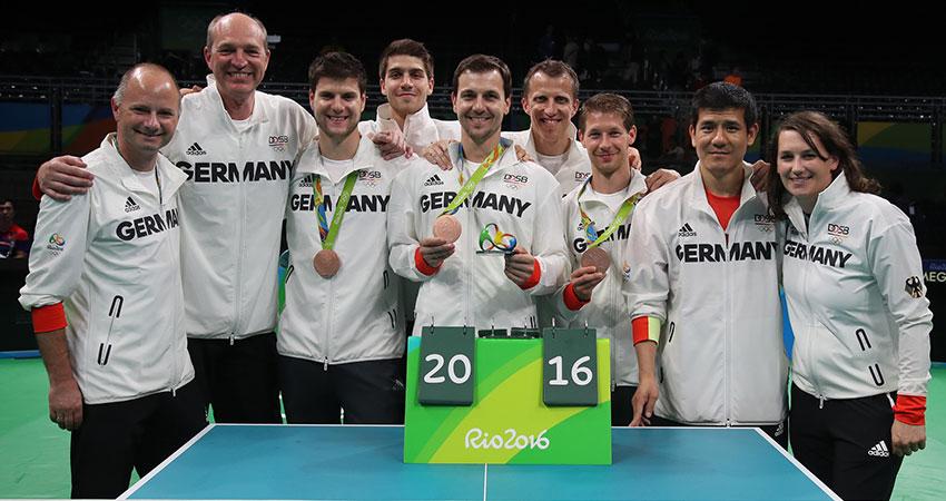 Team Olympia 2016 in Rio. (Foto: ITTF)