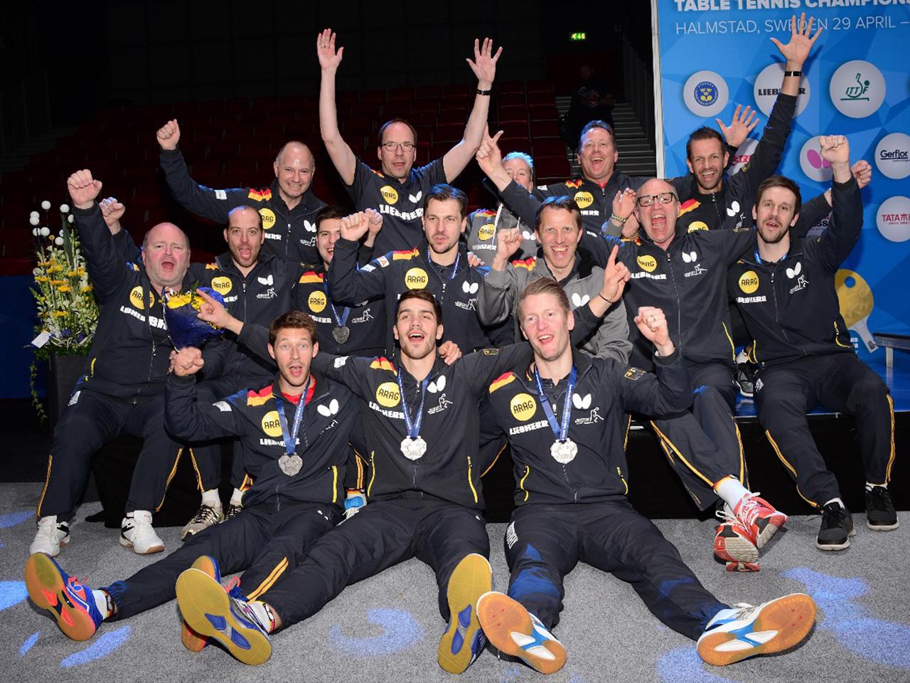 Tolles Team bei der Team WM 2018 in Halmstad/Schweden (Foto Manfred Schillings)