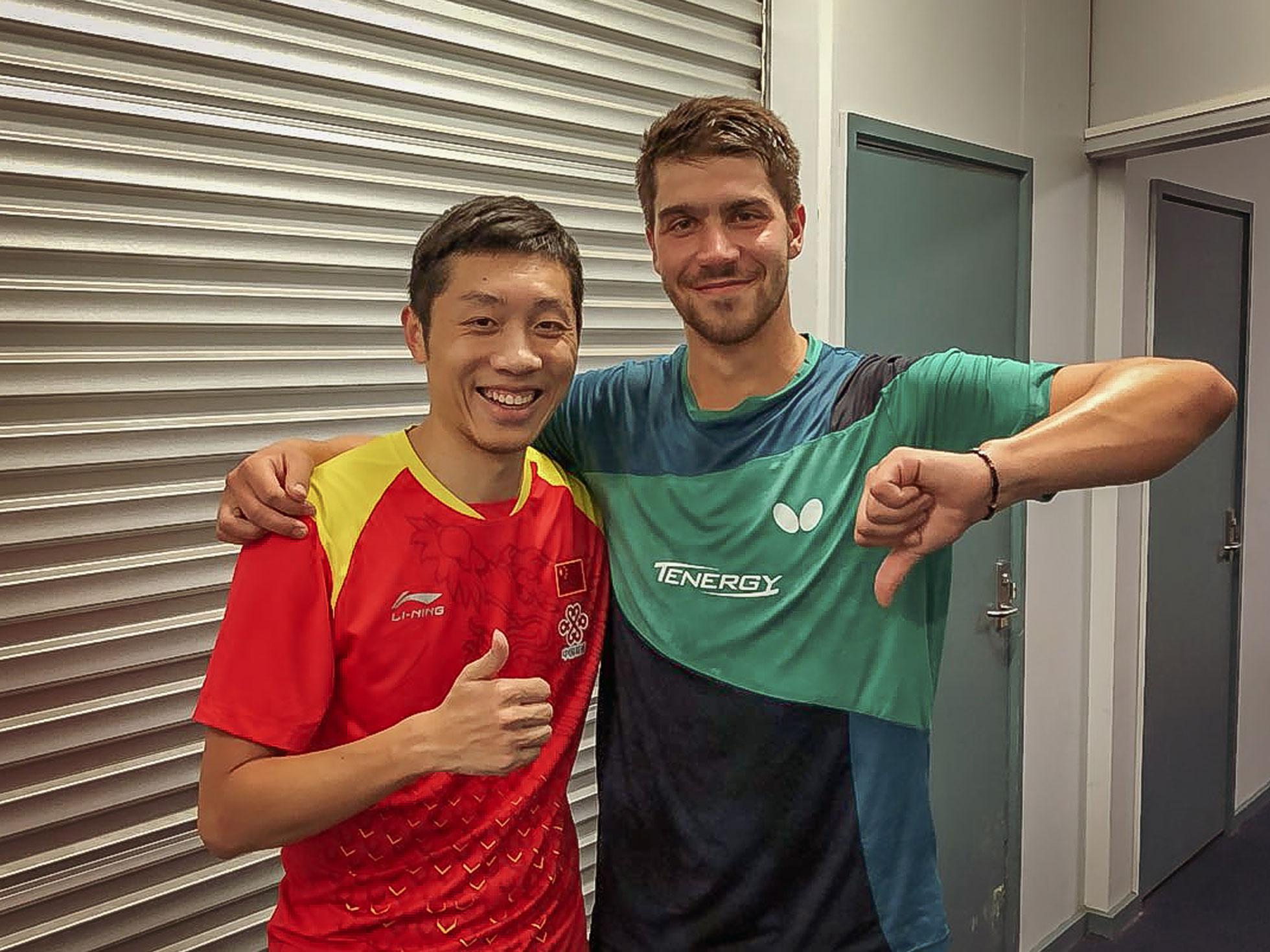 Nach Viertelfinale Australien Open 2018 mit Xu Xin