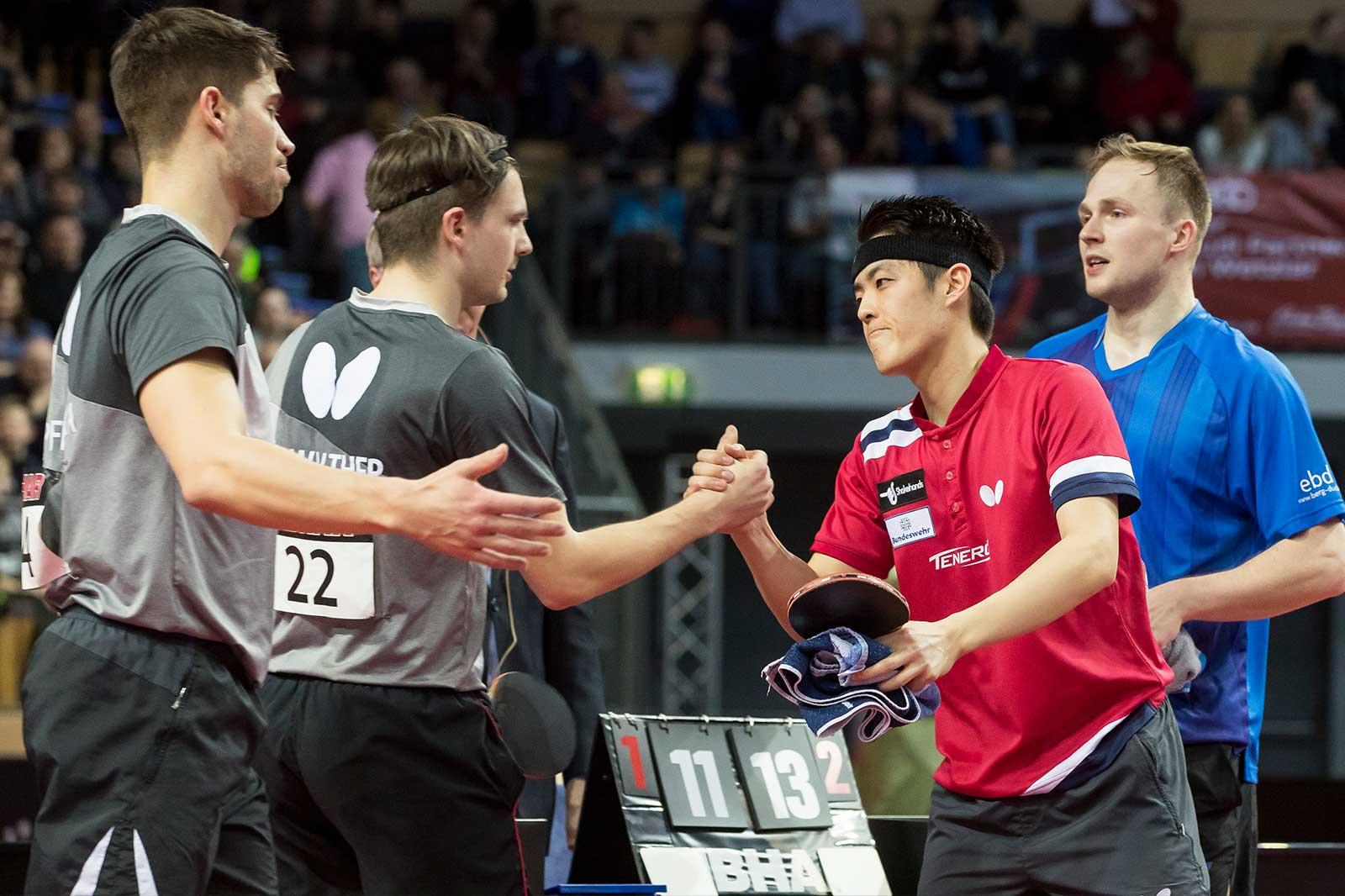 Nach Finale Doppel DM 2019 in Wetzlar (Foto: Marco Steinbrenner)