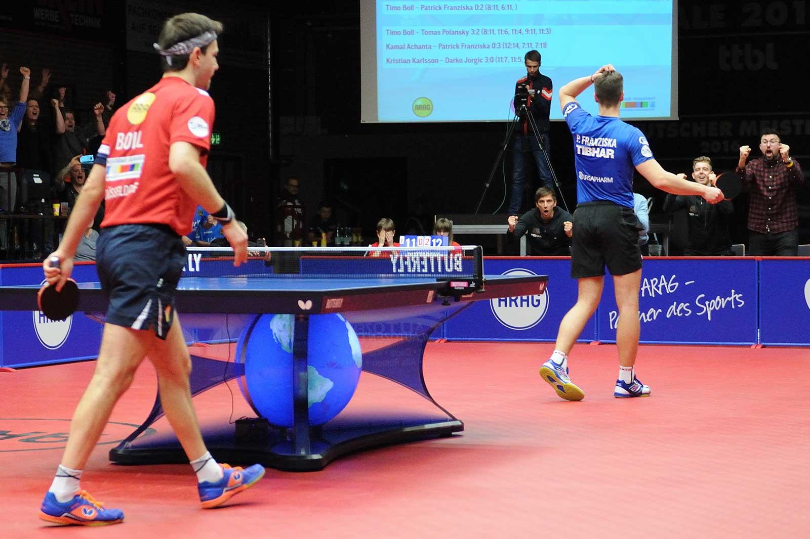 Play-Off Halbfinale Düsseldorf - Saarbrücken - Sieg gegen Timo Boll (Foto: Matthias Ernst)