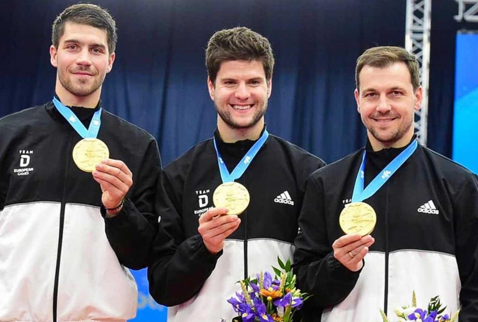 Goldmedaille Team European Games 2019 in Minsk - Foto Manfred Schillings